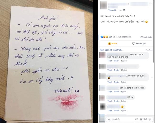 Về muộn được vợ để phần mâm cơm tươm tất, nhưng anh chồng chỉ biết khóc ròng khi đọc lời nhắn nhủ đầy yêu thương-1