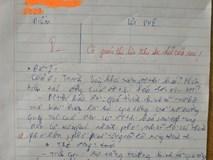 Làm bài kiểm tra chữ xấu hơn gà bới, cô giáo phê một câu cực đắt khiến học sinh phải tự thấy xấu hổ