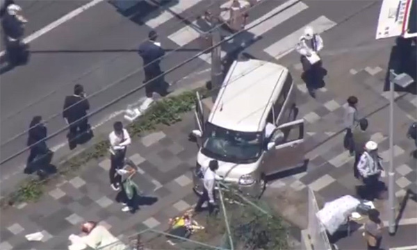 Xe điên đâm học sinh đang sang đường tại Nhật Bản, 2 người chết-1