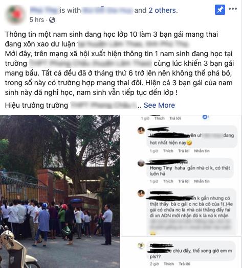 Vụ nam sinh lớp 10 nghi làm 4 bạn gái mang thai: Chỉ quan hệ với một em và mới sinh con trai tại Phú Thọ-1
