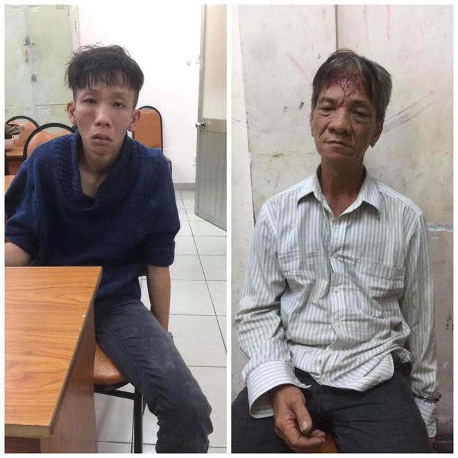 Hai kẻ cướp ném mũ bảo hiểm, dùng dao đâm trinh sát đặc nhiệm ở Sài Gòn-1