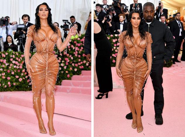 Kim Kardashian gây ấn tượng tại Met Gala với bộ váy ướt át, nhưng khi biết cách cô chật vật để mặc ai cũng thấy... í ẹ-1