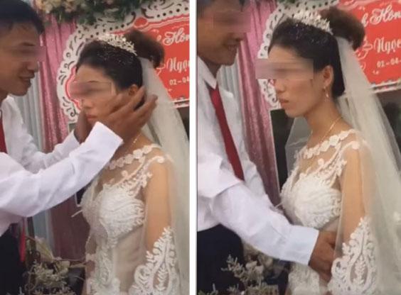 Câu chuyện bất ngờ phía sau clip cô dâu hất tay, từ chối nụ hôn của chú rể trong đám cưới-1