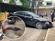 Nữ tài xế lùi ô tô Camry tông trúng chiếc xe máy, một phụ nữ tử vong thương tâm