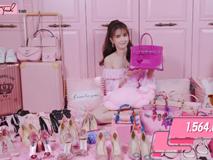Chịu chơi như Ngọc Trinh: Sở hữu khối hàng hiệu màu hồng như 'trung tâm thương mại' trị giá đến 7 tỷ đồng