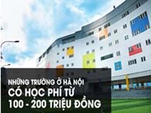 Những trường ở Hà Nội có học phí từ 100 - 200 triệu đồng/năm