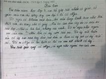 'Chết cười' học sinh lớp 5 làm văn tả cô giáo mắt long lanh, da trắng như giấy