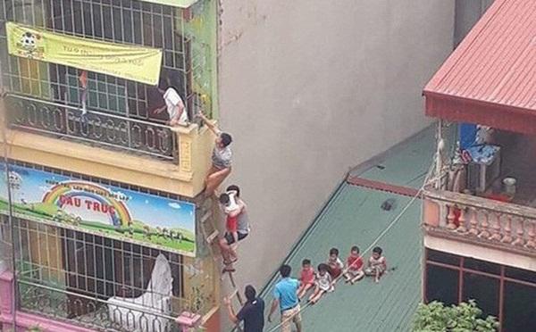 Hà Nội: Xác định nguyên nhân vụ cháy trường mầm non, học sinh thoát ra ngoài bằng mái nhà-1