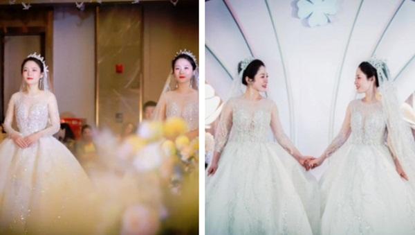 Tổ chức đám cưới cùng ngày, chị em cô dâu chơi chiêu đến nỗi chú rể cũng nhận nhầm vợ-1