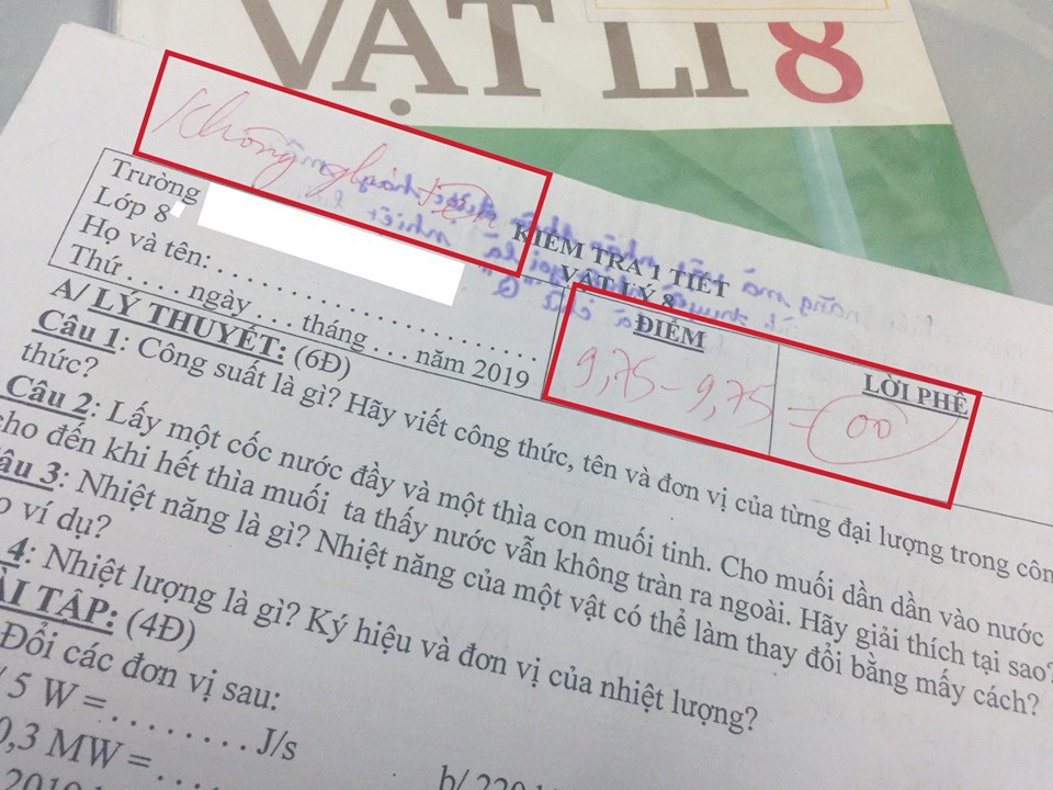 Bài kiểm tra bị trừ 9,75 điểm vì quên không ghi tên gây tranh cãi trên MXH: Cô giáo cứng nhắc hay học trò sai?-1