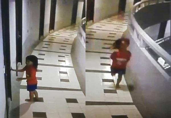 Đi du lịch cùng bố, bé gái 5 tuổi nguy kịch khi rơi xuống từ tầng 12 nhưng hình ảnh qua camera mới tiết lộ sự thật rùng mình-1