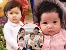 So ảnh Sữa - Sam với chính mình ngày bé, vợ chồng Hằng Túi cũng phải ngạc nhiên vì 2 nhóc y hệt bản sao mini của bố mẹ