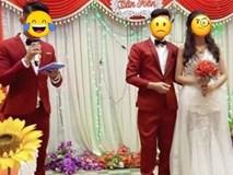 Xôn xao bức ảnh cô dâu bỗng bị