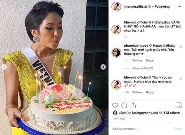 HHen Niê mặc lại váy dạ hội gây bão ở Miss Universe trong tiệc sinh nhật sớm-1