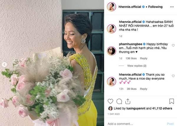 HHen Niê mặc lại váy dạ hội gây bão ở Miss Universe trong tiệc sinh nhật sớm-2