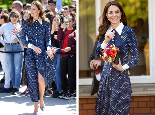 Lần diện đồ cũ này của Công nương Kate quá đặc biệt: Đụng hàng với ái nữ Tổng thống Trump và giống đến 80% váy của mẹ chồng-3