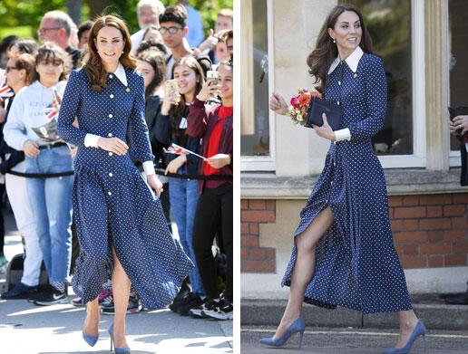 Lần diện đồ cũ này của Công nương Kate quá đặc biệt: Đụng hàng với ái nữ Tổng thống Trump và giống đến 80% váy của mẹ chồng-4