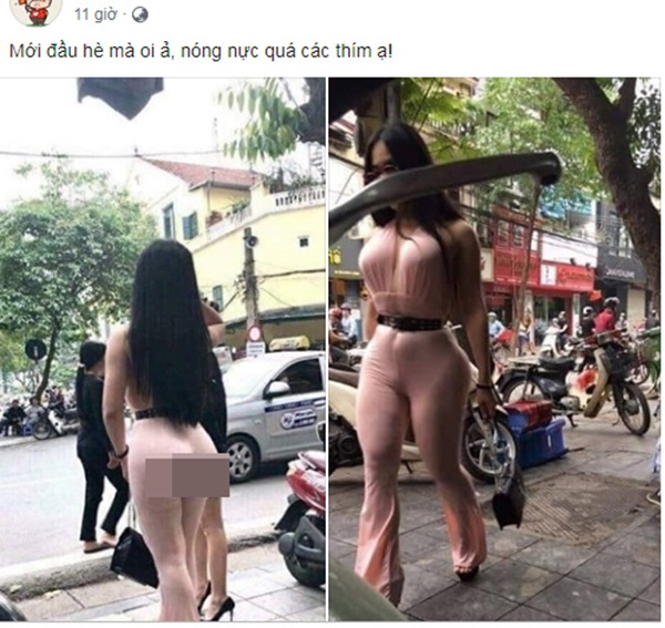 Bức ảnh cô gái siêu vòng 3 xuất hiện trên phố Hà Nội khiến nhiều người đau đầu đoán hàng thật hay hàng độn-1
