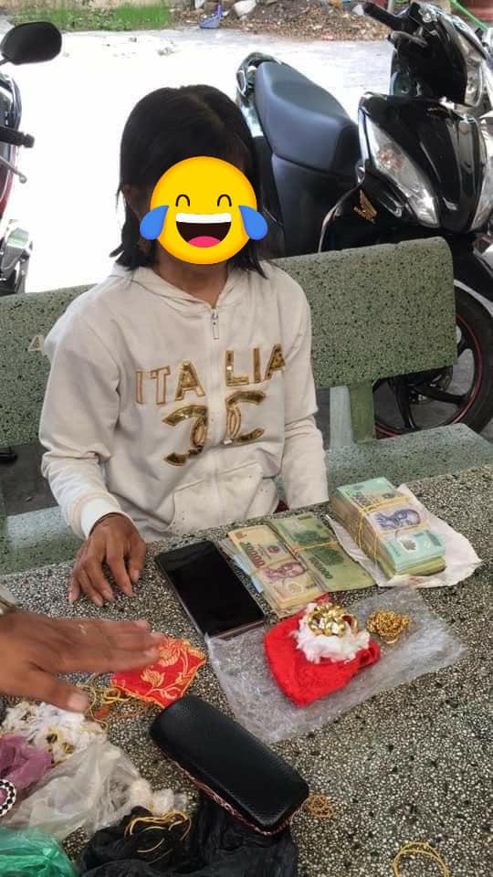 Cô gái 'ăn xin' bị công an bắt giữ vì trong người mang hơn 103 triệu và 5 cây vàng 9999?-4