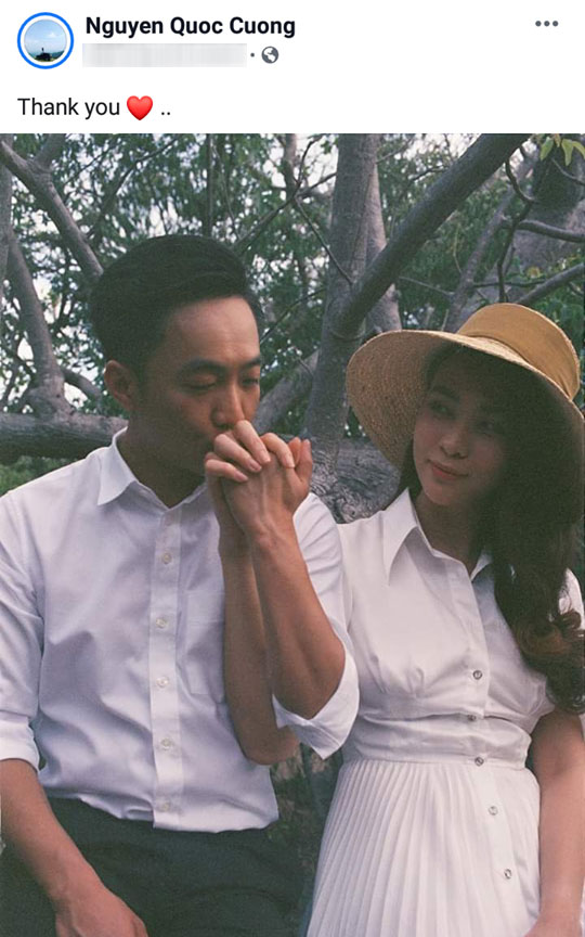 Hiếm khi làm điều này nhưng Cường Đô La vừa đích thân chia sẻ thêm một bức ảnh cưới cực giản dị với Đàm Thu Trang-1