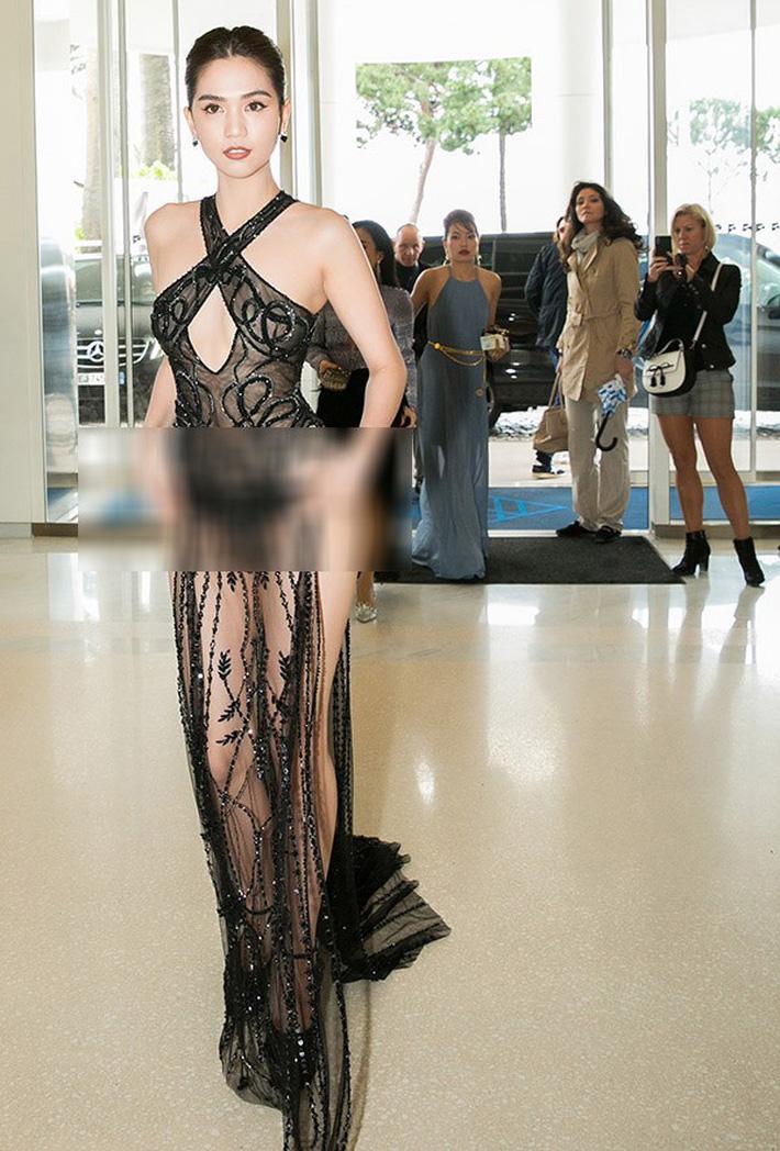 Tiết lộ gây shock từ NTK Đỗ Long: Ngọc Trinh hoàn toàn không mặc nội y trong bộ đồ hở bạo tại Cannes-1
