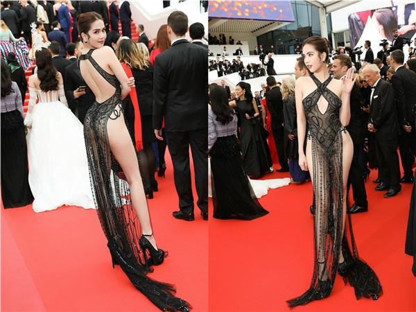 Không phải đến Cannes mới hở bạo đâu, Ngọc Trinh có cả một bộ sưu tập những chiếc váy còn nóng hơn thời tiết Hà Nội đây này!-1