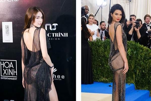 Dân mạng phát hiện Ngọc Trinh tạo dáng, mặc váy giống hệt Kendall Jenner-5
