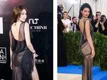 Dân mạng phát hiện Ngọc Trinh tạo dáng, mặc váy giống hệt Kendall Jenner
