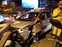 Hà Nội: Nam tài xế taxi ngủ ngật đâm vỡ thành cầu Chương Dương
