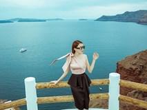 Lê Hà khoe nhan sắc rạng rỡ trong chuyến trăng mật tại vùng đảo Santorini