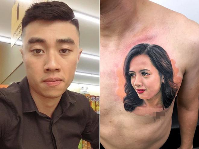 Chàng trai chịu đau 9 tiếng xăm hình chân dung vợ lên ngực-1