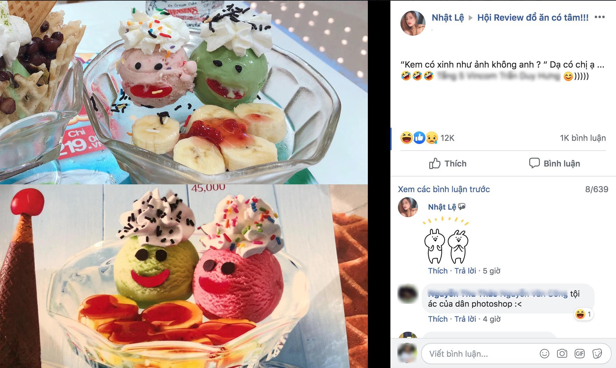 Dân mạng trầm trồ vì hình ảnh cốc kem hàng thật và hình quảng cáo chẳng khác nào ảnh ava và ảnh bạn chụp hộ-1