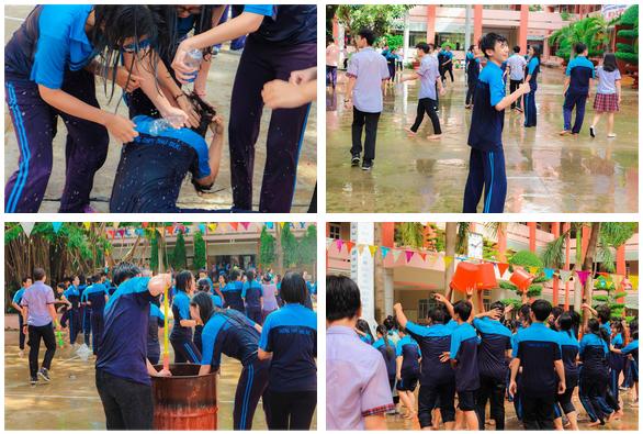 Thấy học sinh dùng súng nước bắn nhau ngày bế giảng, thầy hiệu phó mang hẳn vòi cứu hoả ra phun nước chống lại toàn trường!-9