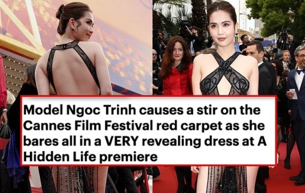 Ngọc Trinh lầy hội tự đăng loạt ảnh dân mạng quây váy, đội nón bảo hiểm che chắn kỹ càng cho mình trên thảm đỏ Cannes-1