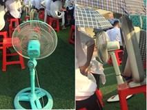 Hình ảnh bá đạo nhất mùa bế giảng: Lớp học ở Nam Định mang hẳn quạt ở nhà đến trường để… chống nóng!