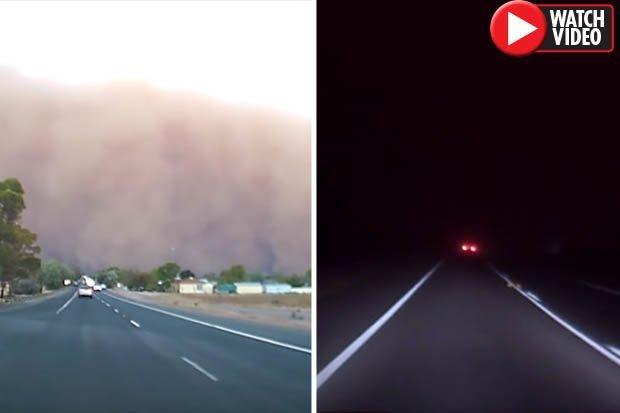 Video: Cảnh tượng ngày biến thành đêm như tận thế ở Úc-1