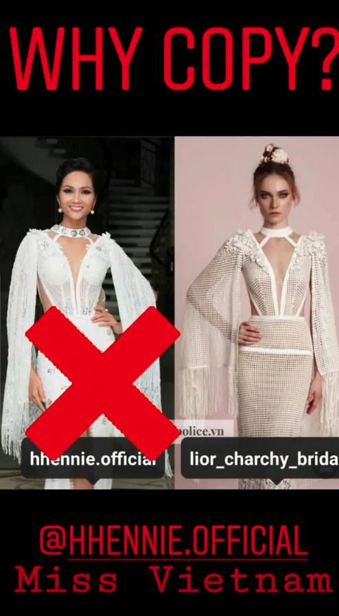 Thương hiệu váy cưới nước ngoài tố NTK Việt đạo nhái, nhưng tội nhất là HHen Niê khi bị lôi vào lùm xùm này-1