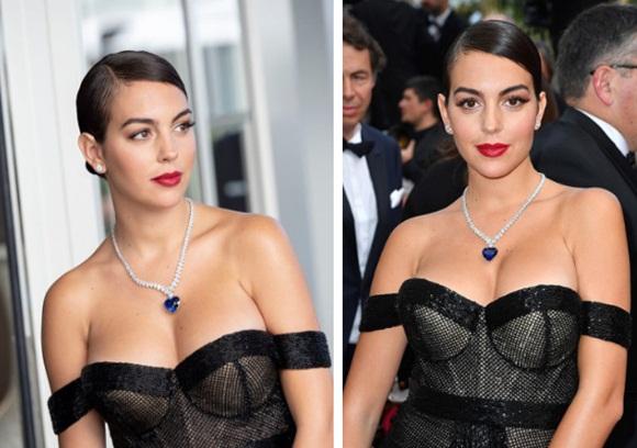 Chẳng cần hở bạo như Ngọc Trinh, bạn gái Ronaldo vẫn khiến fan ná thở vì quá xinh đẹp, nóng bỏng và thần thái ngút ngàn khi xuất hiện ở Cannes-1