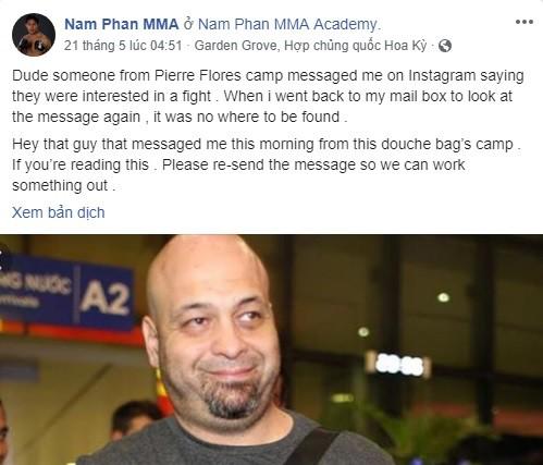"""Võ sĩ MMA người Mỹ gốc Việt: Nếu tôi siết cổ hoặc đánh gãy tay Flores thì sao?""""-6"""