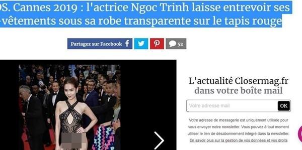 """Hình ảnh Ngọc Trinh tiếp tục vấp phải phản ứng dữ dội, độc giả báo Pháp đòi tẩy chay vì quá lố bịch""""-1"""