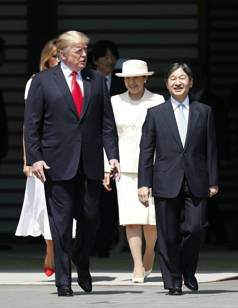Vợ chồng Tổng thống Trump gặp tân Hoàng đế Nhật Bản, Hoàng hậu Masako khiến nhiều người kinh ngạc khi xuất hiện với hình ảnh hoàn hảo hơn mong đợi-5