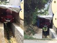 Chỗ đỗ ô tô hiểm hóc khiến dân mạng bối rối: 'Tài xế lùi sao mà khéo thế?'