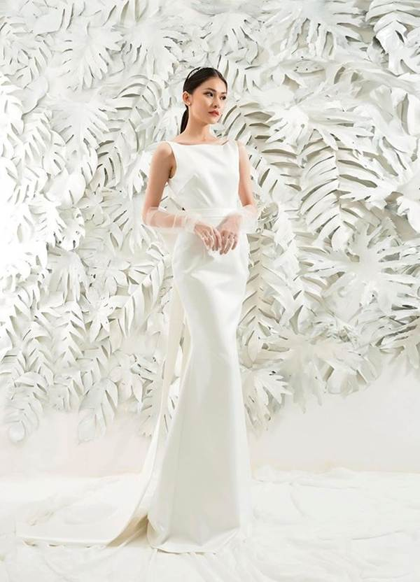 Sau khi công khai bạn trai, Á hậu Thuỳ Dung gợi cảm với váy cưới xuyên thấu-9