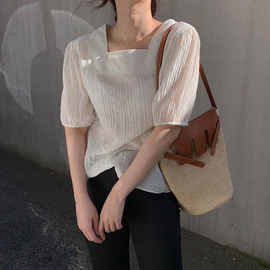10 set đồ với áo blouse trắng dưới đây sẽ là cẩm nang mặc đẹp cho các chị em công sở suốt hè này-9