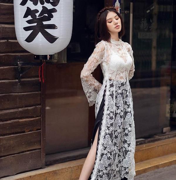 Mặc áo dài lộ nội y: Tăng Thanh Hà, Trần Tiểu Vy gây tranh cãi nhất?-15