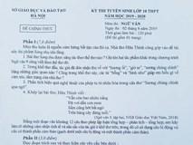 Đề thi môn Ngữ văn vào lớp 10 ở Hà Nội
