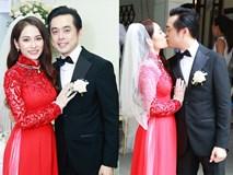 Cô dâu Sara Lưu thay áo dài đỏ làm lộ thêm vòng hai căng tròn, rộ nghi án bầu bí