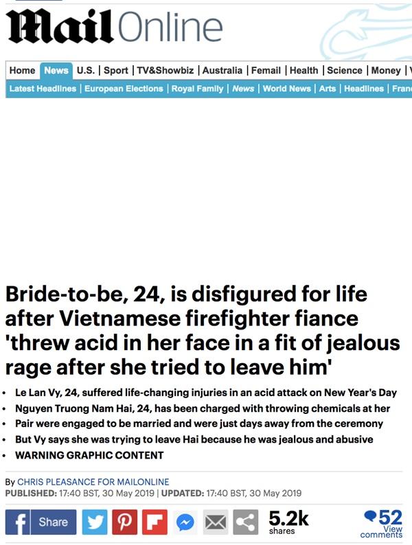 Dân mạng nước ngoài bày tỏ sự thương cảm với cô gái Việt Nam bị chồng sắp cưới tạt axit đến biến dạng khuôn mặt-2