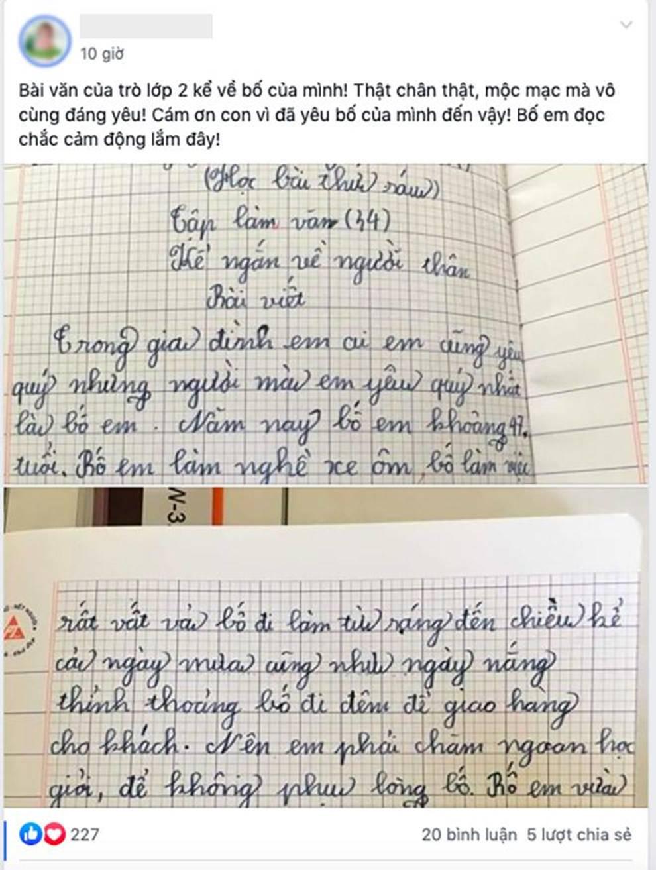 Bài văn của học trò lớp 2 kể về bố và chi tiết khiến ai cũng cảm động-3