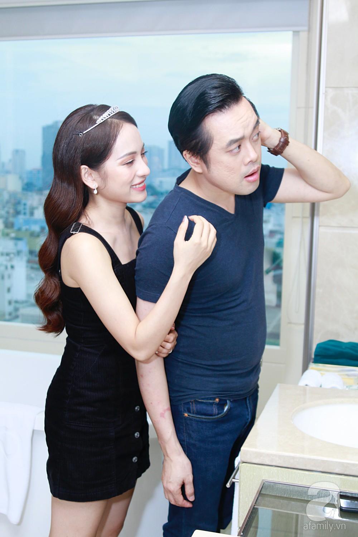 Sara Lưu âu yếm Dương Khắc Linh trong phòng cưới trước giờ G-18